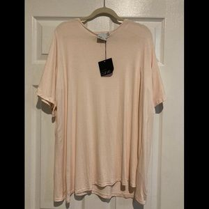 ASOS Curve - Size 20 Loose Fitting Light Pink Top